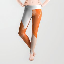 Beautiful Coral Color Flowers White Background #decor #society6 #buyart Leggings