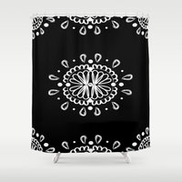 henna Shower Curtains featuring Henna 2 by BiancaSilva