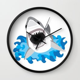 Shark Attack #2 Wall Clock