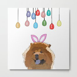 Happy Easter - Chow Chow Metal Print
