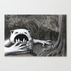 Monster in the Woods Canvas Print