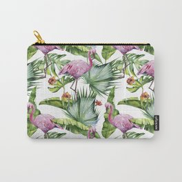 Flamingo Jungle #society6 #buyart Carry-All Pouch