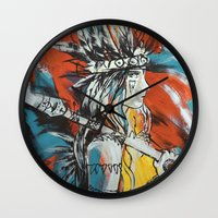 indian Wall Clocks featuring Indian by ketizoloto