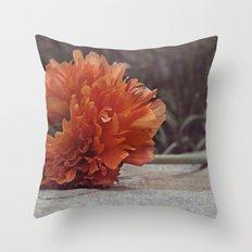 On a Garden Wall Throw Pillow