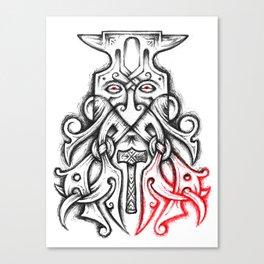 Coal-Dread Anvil Head Canvas Print