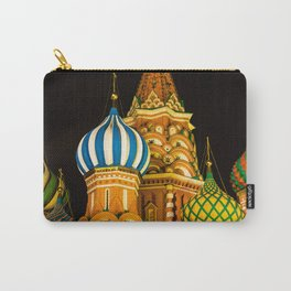 Domes of St. Basil's Cathedral on red square Carry-All Pouch