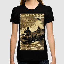 North Wales Vintage Travel Poster T-shirt