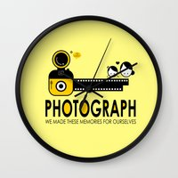 photograph Wall Clocks featuring PHOTOGRAPH by Ain Rusli