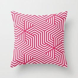 Cerise - fuchsia - Minimal Vector Seamless Pattern Throw Pillow