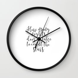 One Direction Quote Printable Art Stars And Moon Inspirational Print Wall Art One Direction Poster Wall Clock