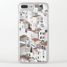 HOUSES - TALL - WHITE Clear iPhone Case