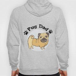 Pug Dad Funny Love Dog Pet Gift Hoody