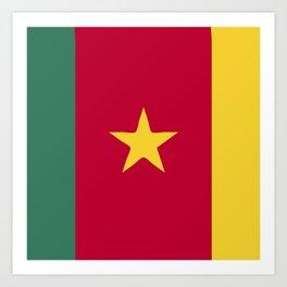 Cameroon flag emblem Art Print