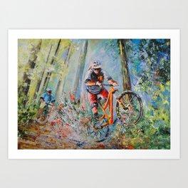 Mountain Biking 01 Art Print