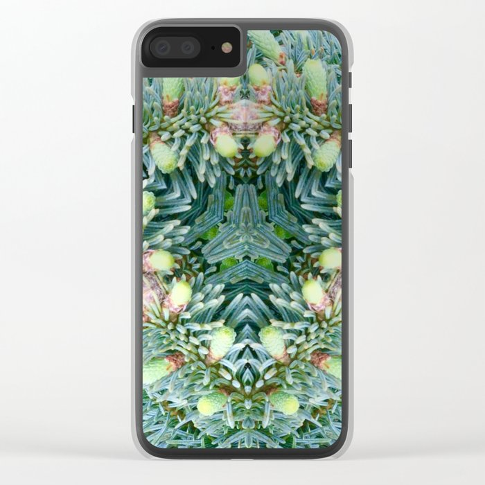 Christmas Garland Clear iPhone Case