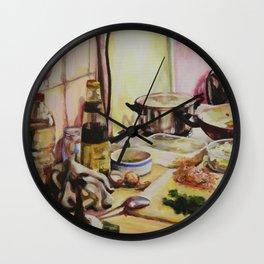 Domesticity Wall Clock
