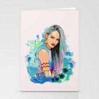 aquarius Stationery Cards featuring Aquarius by Sara Eshak