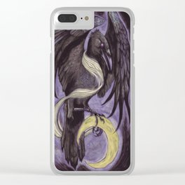 Moon Raven Clear iPhone Case