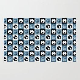 Circles within a Circle - Blue/Grey Rug