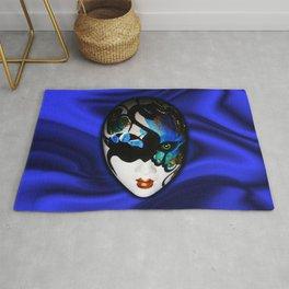 Blue Velvet Venice Mask  Rug