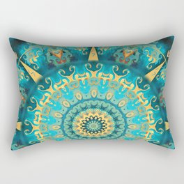 Caribbean Gold Mandala Rectangular Pillow