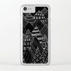 White line mounts Clear iPhone Case