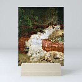 Gorgeous Sarah Bernhardt reclining portrait 3 Mini Art Print