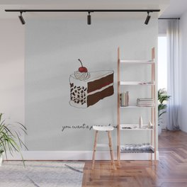 You Want A Piece of Me? Cake Illustration Wall Mural