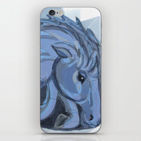 Blue horse iPhone & iPod Skin