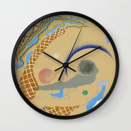 The Benefits Of Incompatibility - abstract pattern minimal modern colorful contemporary shapes  Wall Clock