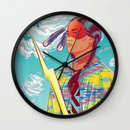 Thunder Woman Wall Clock