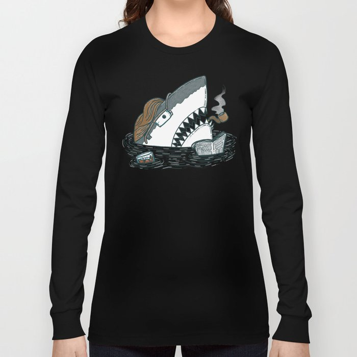 The Dad Shark Long Sleeve T-shirt