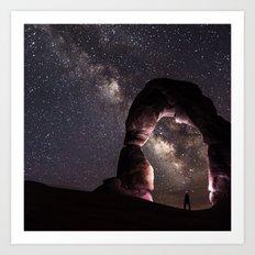 Watching stars Art Print