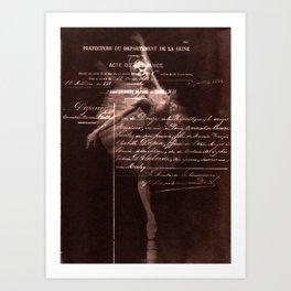 Ballerina II (brown edition) Art Print