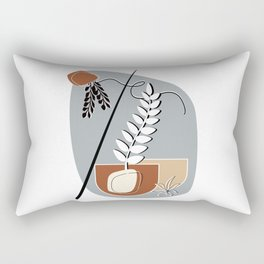 Minimalist Abstract Potted Plants Rectangular Pillow