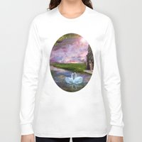 river song Long Sleeve T-shirts featuring Moon River by Susie Hawkins