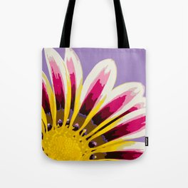 Bright Daisy Illustrated Print Tote Bag