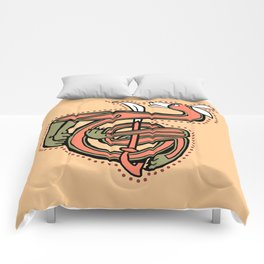 Celtic Fox Letter T Comforters