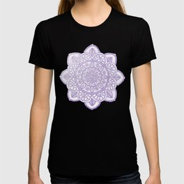 Lavender Mandala on White Marble T-shirt