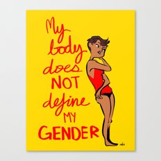 Gender Poster  Canvas Print