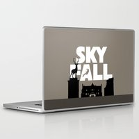 skyfall Laptop & iPad Skins featuring SKYFALL by Vector Vectoria