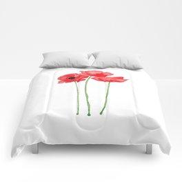 Watercolor Poppies Comforters