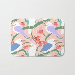 Kookaburra Birds + Little Kurrajong Flowers Bath Mat