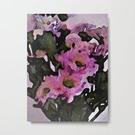 Pink Flowers in the Light 1 Metal Print