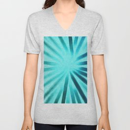 Intersecting-Aqua Unisex V-Neck