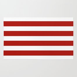 Red & White Maritime Stripes- Mix & Match with Simplicity of Life Rug