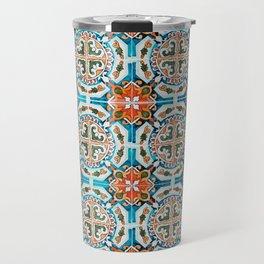Seamless Floral Pattern Ornamental Tile Design : 1 Travel Mug