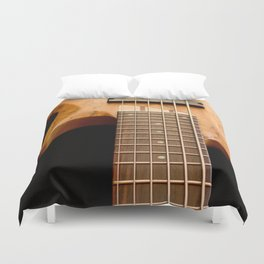 Music is a Moral Law ~ Bass Guitar Duvet Cover