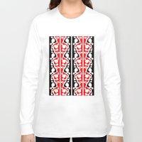maori Long Sleeve T-shirts featuring  Maori Kowhaiwhai Traditional Pattern  by mailboxdisco