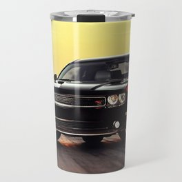 Black Challenger RT Classic with red badging and stripes Travel Mug